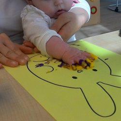 Paas-knutselen bij de baby's